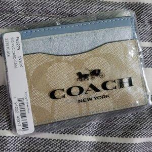 Coach Signature Card Case